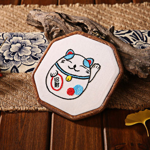 With Hoop Embroidery kit Gift DIY Cross Stitch Kits Needlework Beginners