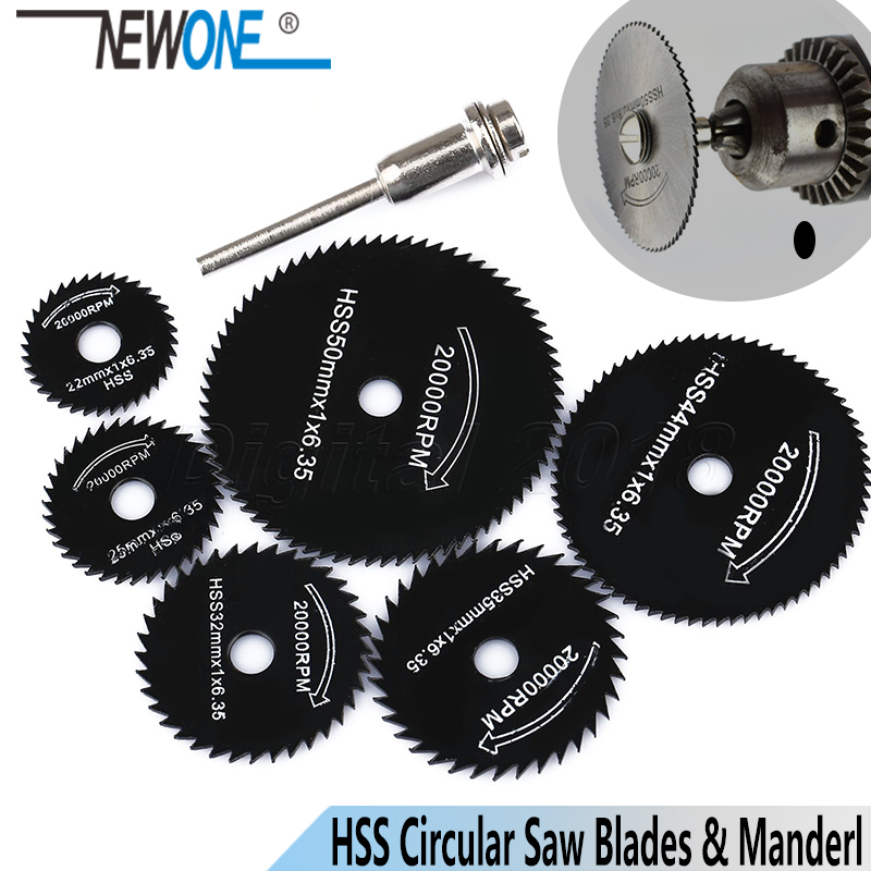 HSS High Speed Steel Circular Saw Blades+Extension Rod Mandrel For Metal Dremel Rotary Tool Cutting Disc Wheel Wood Cutting Saw