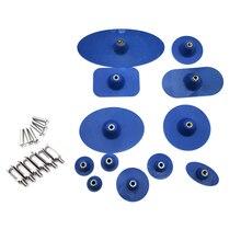 12 adet dayanıklı ekstra büyük mavi tutkal sekmeler Paintless Dent onarım araçları sökücü seti