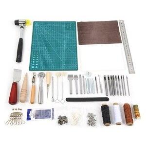 Image 1 - Ensemble doutils de couture pour lartisanat du cuir 6/18/27/42 pièces, poinçon de couture, de coupeur, sculpture et couture