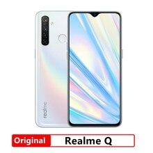 Oryginalny Realme Q 6.3 ''Snapdragon 712AIE Octa Core 48MP Quad Camera telefon komórkowy OPPO VOOC 20W szybka ładowarka telefon komórkowy