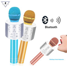 WS858 Bluetooth Wireless Microphone Professional Handheld Karaoke Speaker Birthday Party Machine For IPhone Android PC Phones(China)