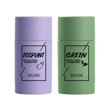 Tè verde controllo dell'olio maschera solida Anti-Acne rimozione dei pori neri maschera per uova maschera schiarente cura della pelle del viso TSLM1