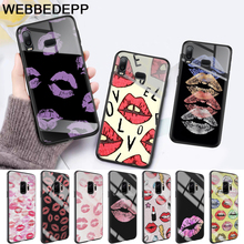 Kiss With Lips Remarkable Glass Case for Samsung S7 Edge S8 S9 S10 Plus A10 A20 A30 A40 A50 A60 A70 Note 8 9 10 стоимость