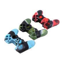 Hot selling Camouflage Soft Silicone Cover Case Protection Skin for SONY playstation 4 PS4 Dualshock 4 Controller Newest стоимость