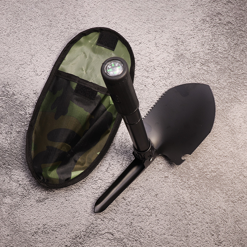 Multi-function Military Portable Folding Camping Shovel Survival Spade Trowel Dibble Pick Emergency Garden Outdoor Tool