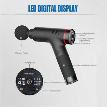LCD Display Massage Gun 33.6W Deep Muscle Massager Muscle Pain Body Massage Exercising Relaxation Slimming Shaping Pain Relief 4