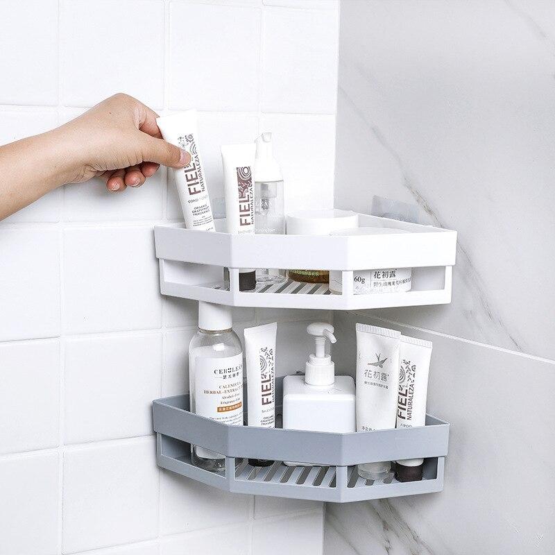 Corner Shelf Perforation-free Corner Rack Wash Rack Seamless Wall-mounted Rack Receptacle Bathroom Rack