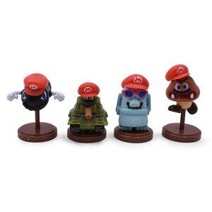 Image 5 - Gorące zabawki 15 sztuk/zestaw 3 7cm Mario Bros rysunek Luigi Yoshi pcv Action figurki zabawki lalki Mario brzoskwinia księżniczka grzyb prezenty dla dzieci