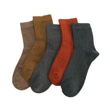 1pair Autumn Winter Cotton Socks Men's Tube Socks Breathable Casual Solid Color Vertical Strip Men's Christmas Socks autumn and winter solid color tube socks business socks four seasons socks new vertical cotton socks