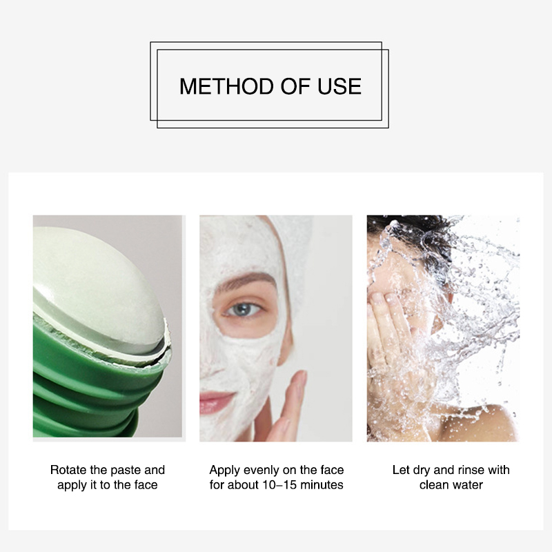 Green Tea Cleansing Clay Stick Mask Acne Cleansing Beauty Skin Green Tea Moisturizing Hydrating Whitening Care Face 6