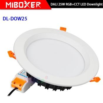 Miboxer 25W DALI RGB+CCT LED Downlight DL-DOW25 Dimmable lamp AC100-240V DALI Signal led Ceiling light
