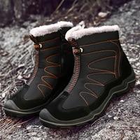 Snow Boots for Men Plush Waterproof Slip Men Boots Platform Thick Resistant Winter Shoes Plus Size 38 46 Warmest Winter Shoes