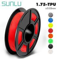 SUNLU TPU גמיש נימה עבור 3D מדפסת 1.75/3.0mm 3D שאינו רעיל TPU גמיש מתכלים להדפסה ילדי צעצוע ונעליים