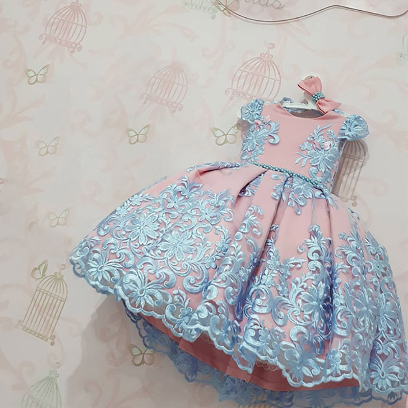 Hf888b2a2f9b04f1c86594ae468422571F Girls Dress Christmas Kids Dresses For Girls Party Elegant Princess Dress For Girl Wedding Gown Children Clothing 3 6 8 10 Years