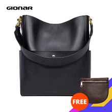 GIONAR RFID Genuine Leather Bags Women Real Top Layer Cowhid