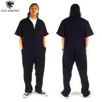 Men hip hop dancing coverall jumpsuit dancer hiphop pants 2016 summer fashion short sleeve one piece overalls Plus Size S XXXL