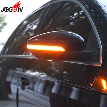 For VW Passat B7 CC Scirocco MK3 Jetta MK6 EOS Beetle R LED Dynamic Turn Signal Blinker Sequential Side Mirror Indicator Light