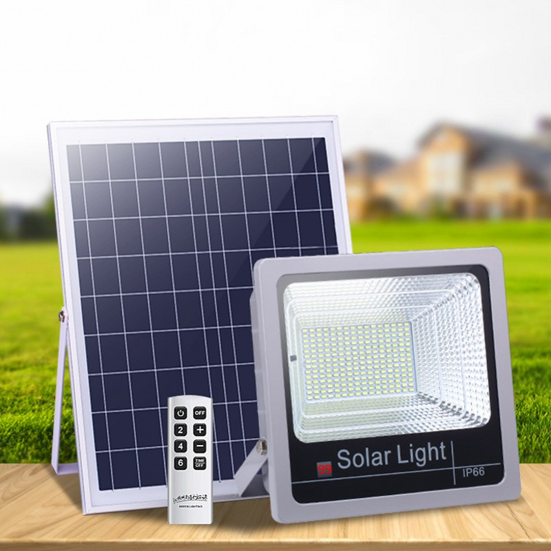 1pcs Solar <font><b>LED</b></font> Flood Light 40W <font><b>60W</b></font> 80W 100W 120W Remote Control <font><b>Floodlight</b></font> Solar powered Street Lamp Waterproof IP65 image