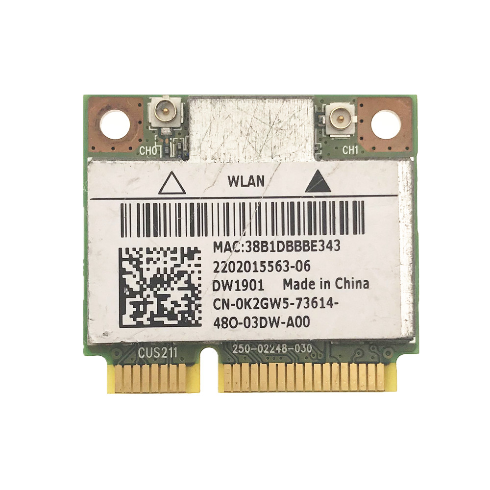 For DELL DW1901 AR5B22 Wireless Dual Band Half Mini PCI-E WiFi Bluetooth4.0 Card High Speed