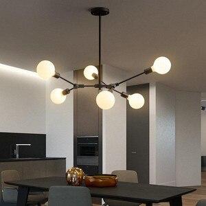 Image 4 - Magic Bean Moleculaire Foyer Kroonluchters Boom Vorm Creatief Ontwerp Moderne Decor Hanger Lampen Nordic Postmoderne Verlichtingsarmaturen