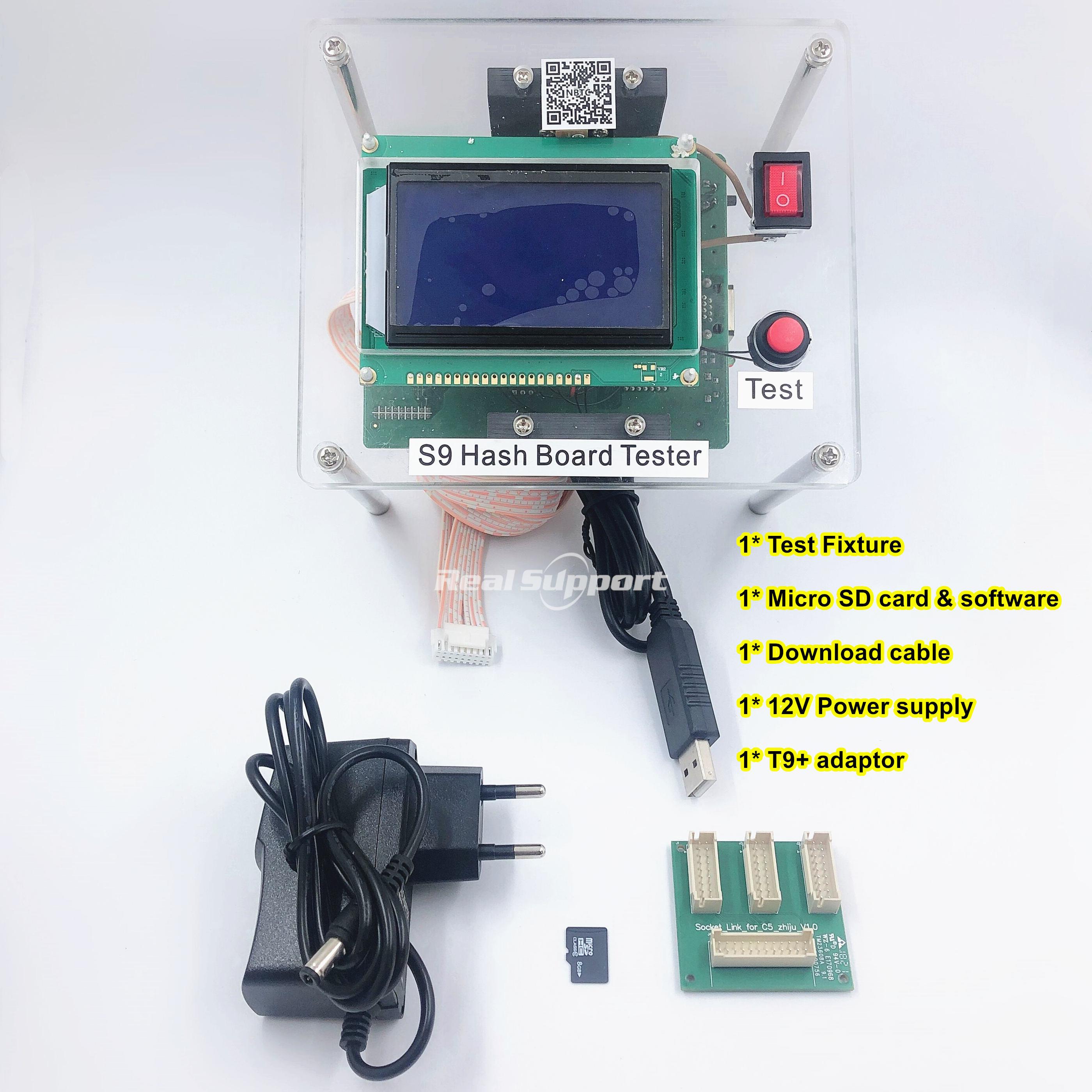 Image 3 - Bitcoin BTC Miner Test Fixture S9 S9i S9j T9 T9+ S9K / S9 SE hash board tester repair chip BM1387 BM1387BReplacement Parts & Accessories   -