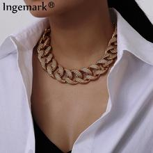 Exaggerated Fashion Statement Big Necklace Statement 2020 Hip Hop CCB Thick Chunky Chain Choker Necklace for Women Best Jewelry