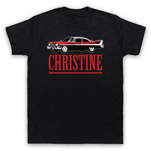CHRISTINE LOGO PLYMOUTH FURY CAR HORROR FILM NOVEL KING ADULTS  T-SHIRT