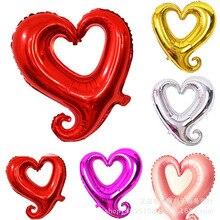 Лидер продаж 18-дюймовые Gogo сердце воздушный шар из фольги высокое качество на день рождения активности вечерние в форме сердца, хорошие украшения свадебные серия воздушных шаров
