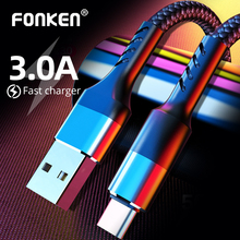 FONKEN 3A Fast Phone Charger USB-C Phone Charging Cord For Xiaomi Redmi