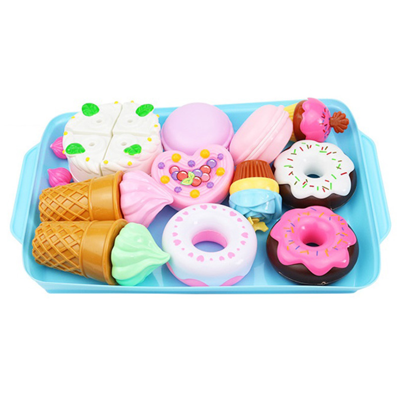 Pretend Play Early Education Children'S Kitchen Toys Plastic Simulation Food Cake Ice Cream Dessert Toy For Kids Gift