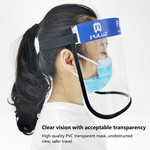 10pcs Anti Splash Spray Protection Safety Face Shield Clear Anti-Fog Saliva Mask Eye Protective 1