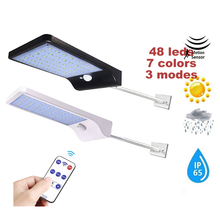 Solar Lights Outdoor 48/36 LED Wall Motion Sensor Light with Remote Controller Wireless Waterproof Security Lamp for