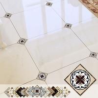 1 Set (21pcs) Self adhesive Tile Decorative Sticker Floor Waterproof Diagonal Sticker living room Tile Decoration Wall Decals