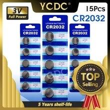 15pcs CR2032 CR 2032 ליתיום 3V מטבע סוללה BR2032 DL2032 SB T15 EA2032C ECR2032 L2032 עבור שעון האם צעצועים