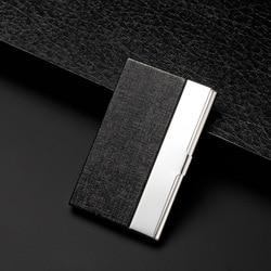 Caja de tarjeta de suministro directo de fabricantes Pu Metal nombre tarjeta titular huesos patrón tarjeta caso-impresión publicitaria