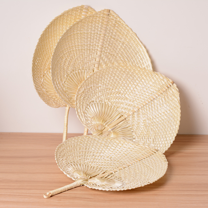 Free Shipping Pure Hand-woven Straw Bamboo Hand Fan Baby Mosquito Fan Summer Wedding Gift Party Gift