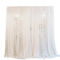 Luxury Cotton Linen Embroidered White Lace Curtain for Bedroom Living room Princess Lohas Cotton Cortina Fairy Tulles Voiles