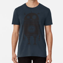Big Robot 2.0 T Shirt Character Cool Funny Heavyhand One Colour Retro Robot Saul Bass Vector Texture(China)