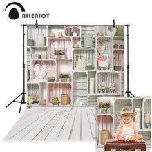 Фон для фотосъемки allenjoy Весенняя деревянная полка стена