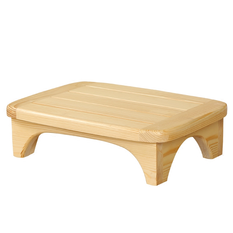 Creative Solid Wood Bed Footstool Bedside Footstool Low Stool Bathroom Wooden Mattress Anti-skid Wooden Mattress Sofa Footstool