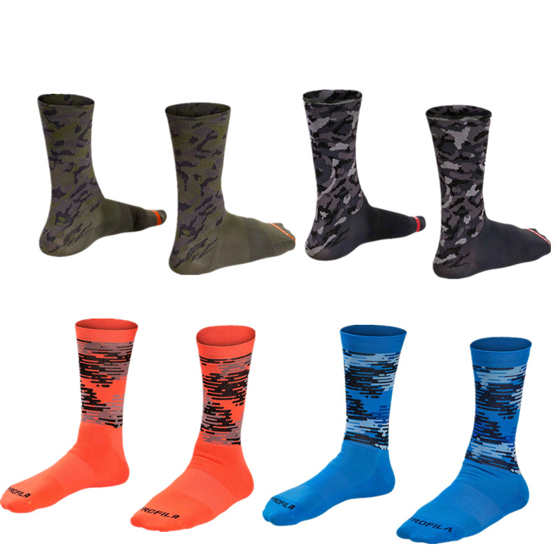 Outdoor Sport Autumn Camouflage Compression Mtb Socks Men Mountain Bike Cycling Socks