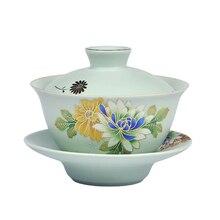 Gaiwan керамическая чашка для чая с крышкой блюдце набор 150 мл чайник мастер чашка изысканный чай супница чайный набор кунг-фу чайная посуда для напитков в подарок