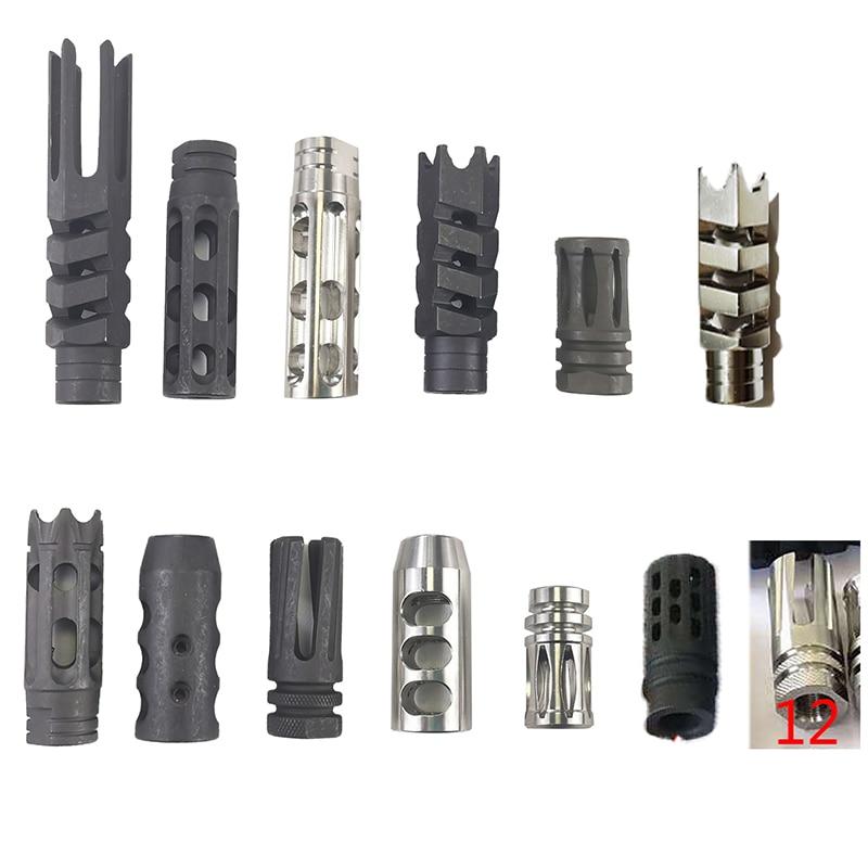 Декоративная крышка для ствола 1/2 дюйма, резьба x28, сталь/нержавеющая сталь для M16 M4, 223, винтовка с шайбой для давки, вогнутая Резьбовая трубка