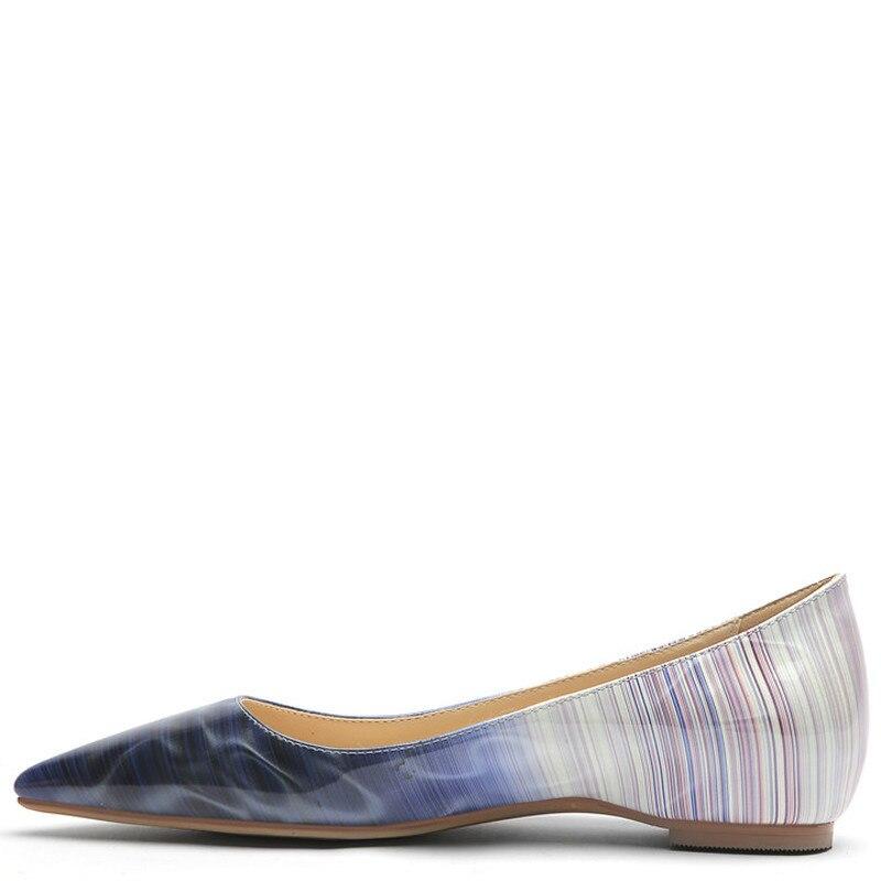 YECHNE Women's Platform Shoes Pointed Toe Flats Fashion Spring Autumn White Platform Ballet Shoe Plus Size Blue Purple Orange