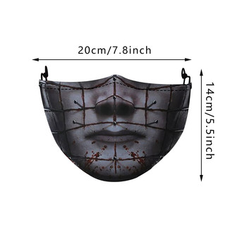 1pc Children Halloween Printed Face Mouth Masks Funny Skull Face Mouth Cover With Pm25 Activated Carbon Filter Mascarillas COS P image