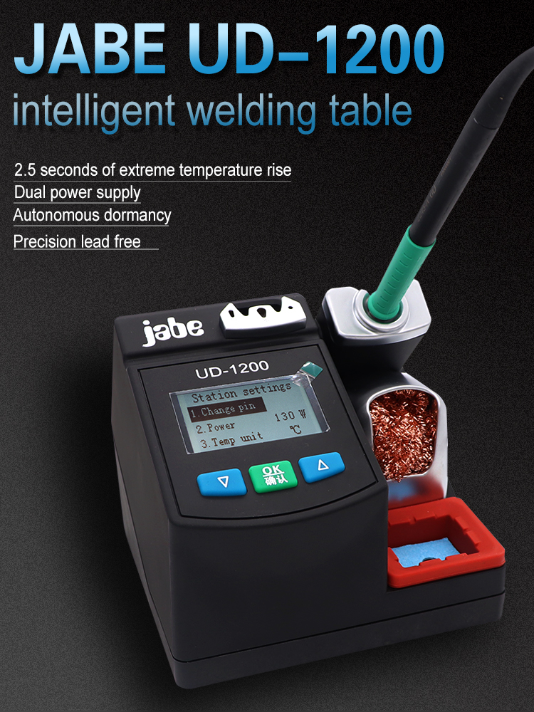 Soldering-Iron-Kit Jabe UD-1200 Power-Heating-System Lead-Free Dual-Channel Precision