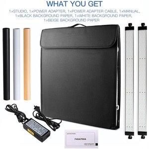 Image 5 - Samtian 사진 상자 60cm 라이트 박스 폴드 소프트 박스 텐트 3 색 배경 쥬얼리 장난감 사진 사진 라이트 박스 led 라이트
