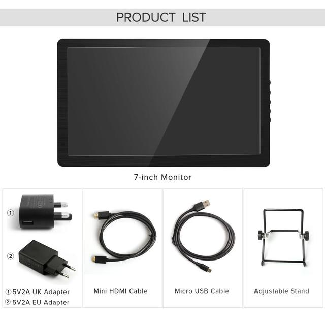 Eviciv Dual Screen Laptop 7 Inch PC Computer Second Monitor IPS 60Hz Portable Display for Switch Xbox PS4 Game Console HDMI USB 6