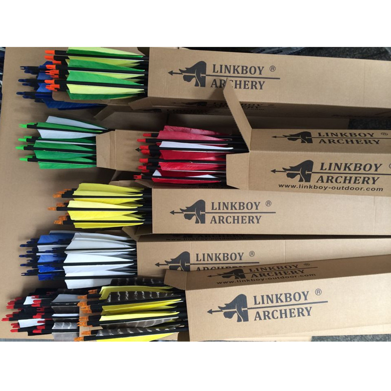 12pcs Archery Pure Carbon Arrows 32 Spine 500 5 Turkey Feathers 100 gr Compound Traditional Bow